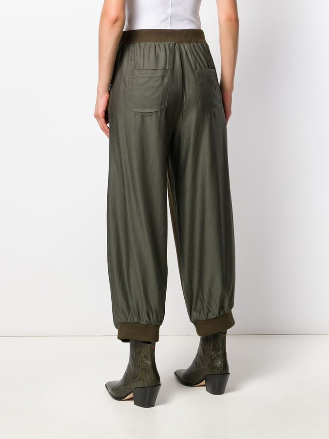 Thumbnail for your product : Zucca Fabric Panelled Trousers