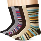 Steve Madden Men's 6 Pack Aztec Fashion Crew Socks
