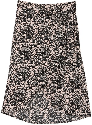 Abound Patterned Cross Front Midi Skirt
