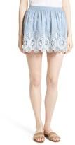 Joie Women's Wanita Eyelet Embroidered Miniskirt