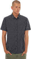 Quiksilver Mens Everyday Check Short Sleeve Shirt Black