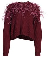 Thumbnail for your product : Cinq à Sept Melanie Ostrich Feather Wool-Blend Sweater