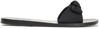 Ancient Greek Sandals Alki Bow-embellished Satin Slides
