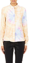Paco Rabanne WOMEN'S TIE-DYED BLOUSE-PEACH SIZE 34 FR