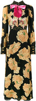 Gucci poppy print gown - women - Silk/Polyester/Acetate/Viscose - 42