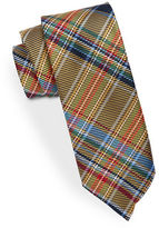 Black Brown 1826 Tartan Plaid Silk Tie