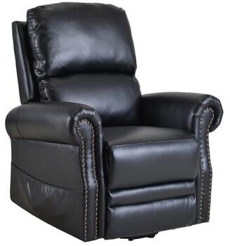 Red Barrel Studioâ® Zenon Power Lift Recliner Chair with Heating Red Barrel StudioA Fabric: Black