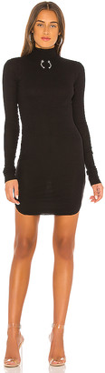 Frankie B. Janet Bull Ring Mock Neck Mini Dress