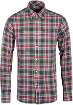 Barbour Warren Forest Green Checked Tailored Fit Flannel Shirt
