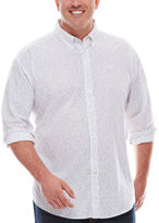 Dockers Long-Sleeve Poplin Button-Front Shirt - Big & Tall