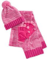 Berkshire Girls' 3-Pc. Hat, Scarf & Adjustable Gloves Set