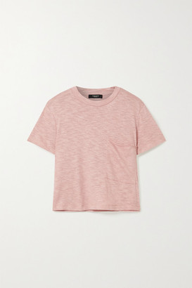 Twenty Montreal Brooks Cropped Slub Jersey T-shirt - Antique rose