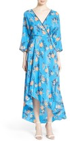 Diane von Furstenberg Women's High/low Floral Silk Maxi Dress