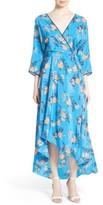 Diane von Furstenberg Women's High/low Floral Silk Maxi Dress