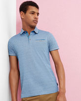 Ted Baker Oxford cotton jacquard polo