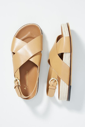 Anthropologie Clarissa Slingback Sandals By in Black Size 36