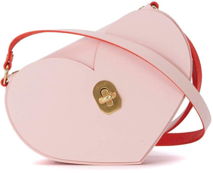 Niels Peeraer Heart Pink And Red Leather Bag