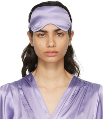 Fleur Du Mal SSENSE Exclusive Purple Silk Sleeping Mask