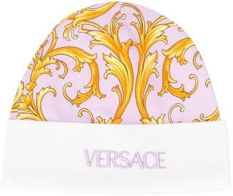 Versace Barocco Print Logo Hat