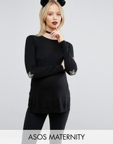 Asos Jumper With Halloween Elbow Patch