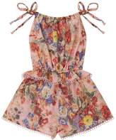 Zimmermann Lovelorn Floral Tie Playsuit