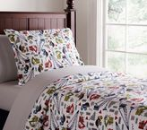 Pottery Barn Kids Busy Builder Flannel Duvet Cover