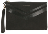 WANT Les Essentiels Women's Barajas Zip Folio Black Nubuck Stripe