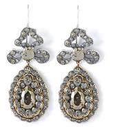 Georgian Pyrite And Gold Drop Earrings