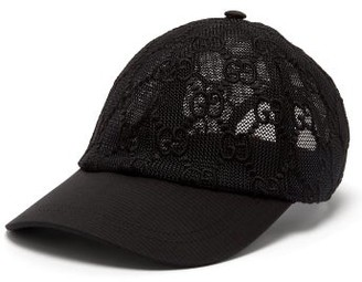 Gucci GG-lace Baseball Cap - Black