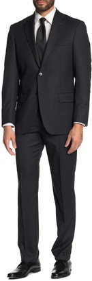Hart Schaffner Marx Stripe Print New York Fit 2-Piece Suit
