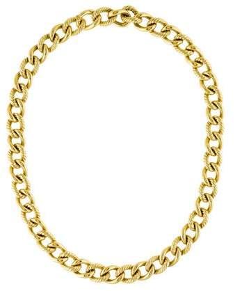 David Yurman 18K Belmont Curb Necklace