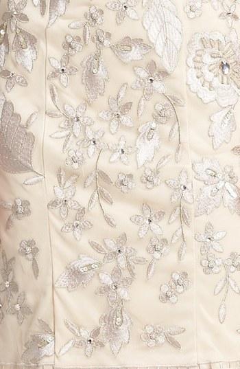 Sue Wong Embellished Cap Sleeve Sheath