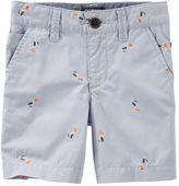 Osh Kosh Toddler Boy Schiffli Embroidered Pattern Dock Shorts