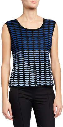 Ming Wang Reversible Knit Scoop-Neck Tank