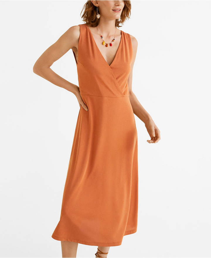 MANGO Flowy Long Dress