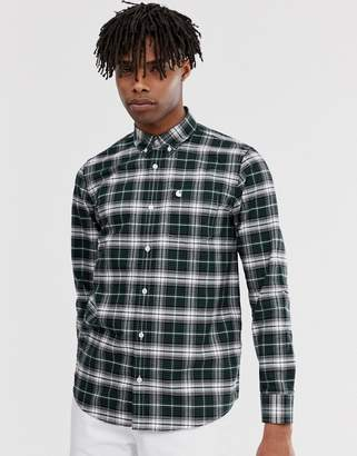 Carhartt Wip WIP Linville long sleeve shirt in green check
