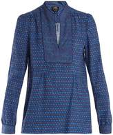 A.P.C. Ava printed cotton-blend blouse