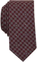 Bar III Men's Wine Diamond Gingham Tie, Only at Macy's