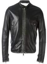 Valentino Men's Black Leather Outerwear Jacket.