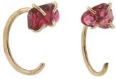 Melissa Joy Manning Hot Pink Burmese Cornundum Gravel Hug Earrings