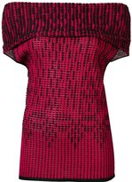 Roland Mouret off shoulder knit top - women - Viscose - S