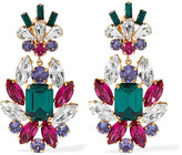 Dolce & Gabbana Gold-plated Crystal Clip Earrings - Green