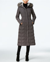 Calvin Klein Faux-Fur-Trim Water Resistant Down Puffer Maxi Coat