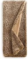 Dian Austin Couture Home Queen Snow Leopard Faux-Fur Throw