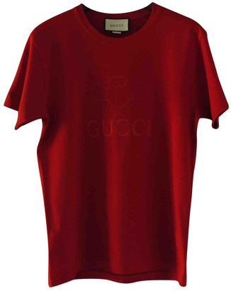 Gucci Red Cotton T-shirts