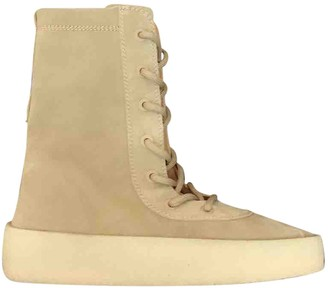 Yeezy Brown Leather Ankle boots