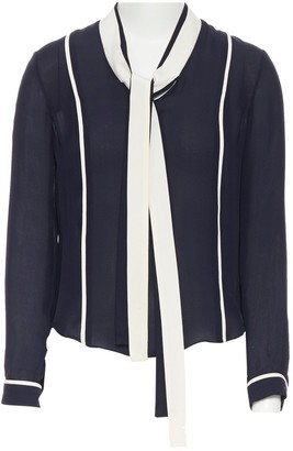 Thom Browne Navy Silk Top for Women