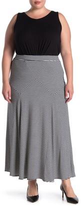 Philosophy di Lorenzo Serafini Seam Detail Striped Maxi Skirt (Plus Size)