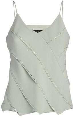 Max Mara Embellished Silk Cami Top