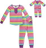 Dollie & Me Polka Dot Snugfit Pajama Set & Doll Outfit - Toddler & Girls